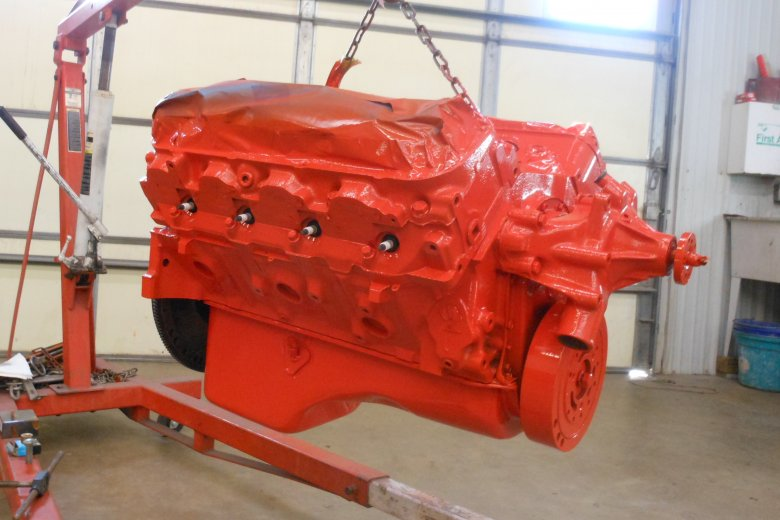 Here we have fresh paint on the 454 big block!