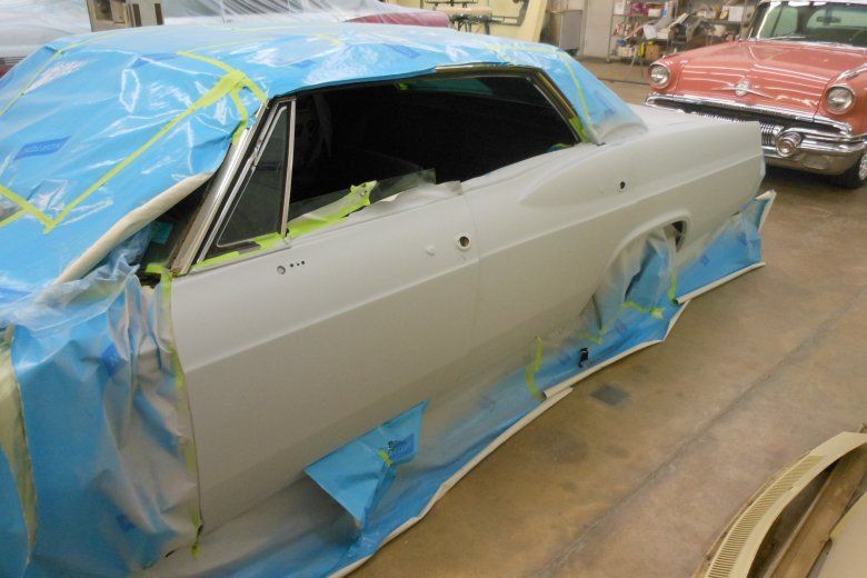 After blocking everything we masked it up and put the body in its first coat of primer.