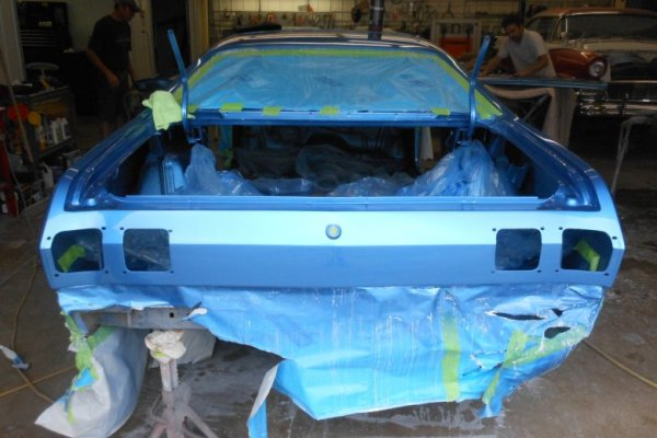 Here are some pictures of the car after wet sanding and buffing.
