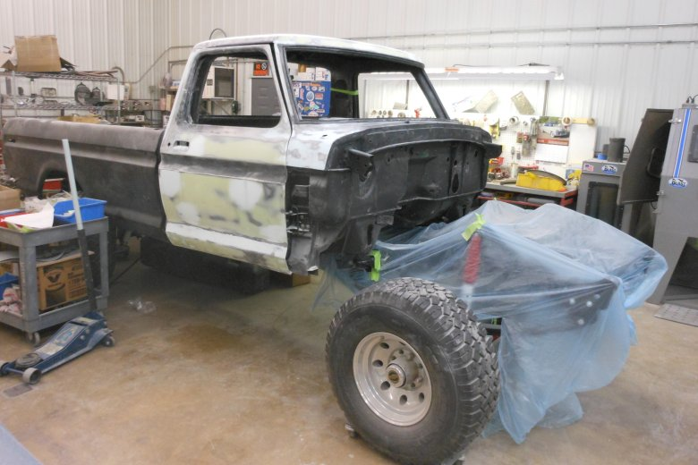 Now some body work and body fitting before primer.